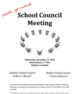 Equinox School Council poster
