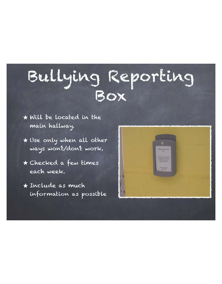 Bullying Reporting Box