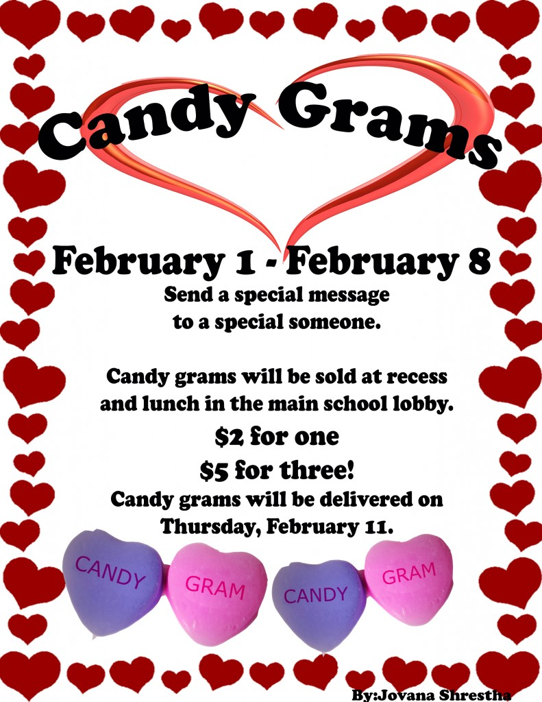 Candy gram poster copy