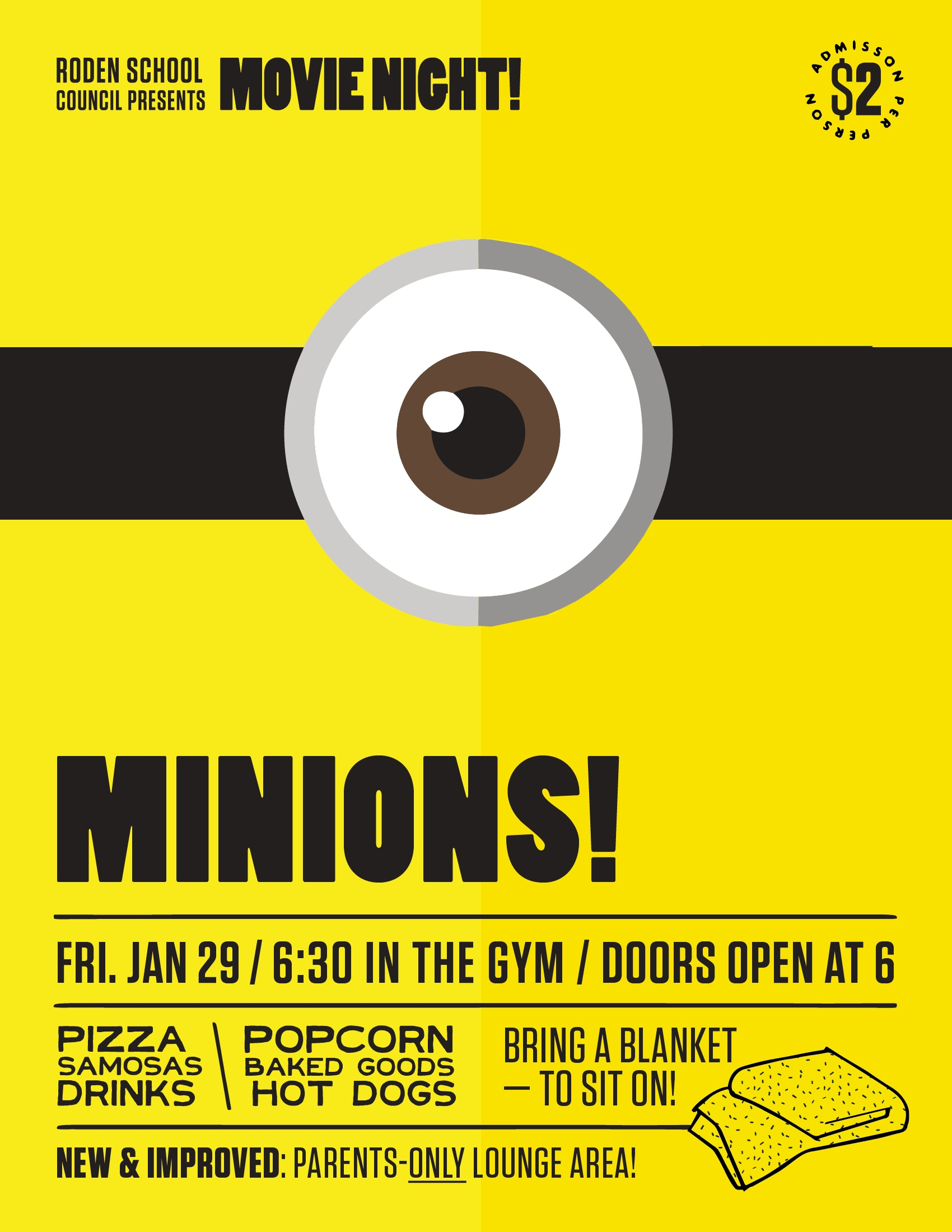 Roden Movie Night Poster (Minions)