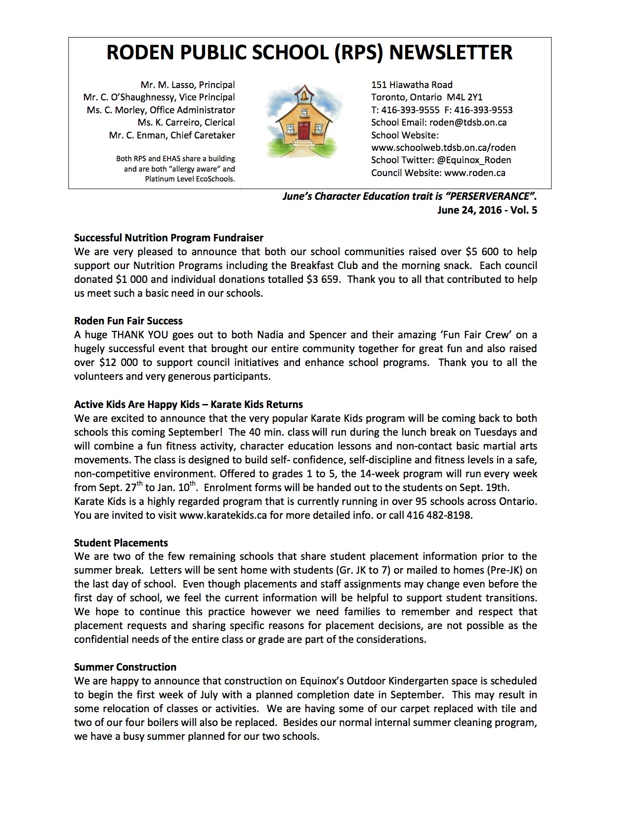 Roden Newsletter 16-06-24