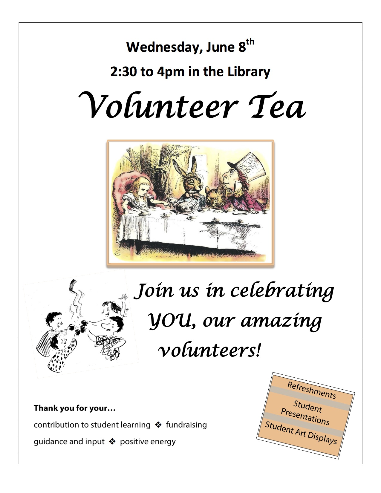 Volunteer Thank You Tea