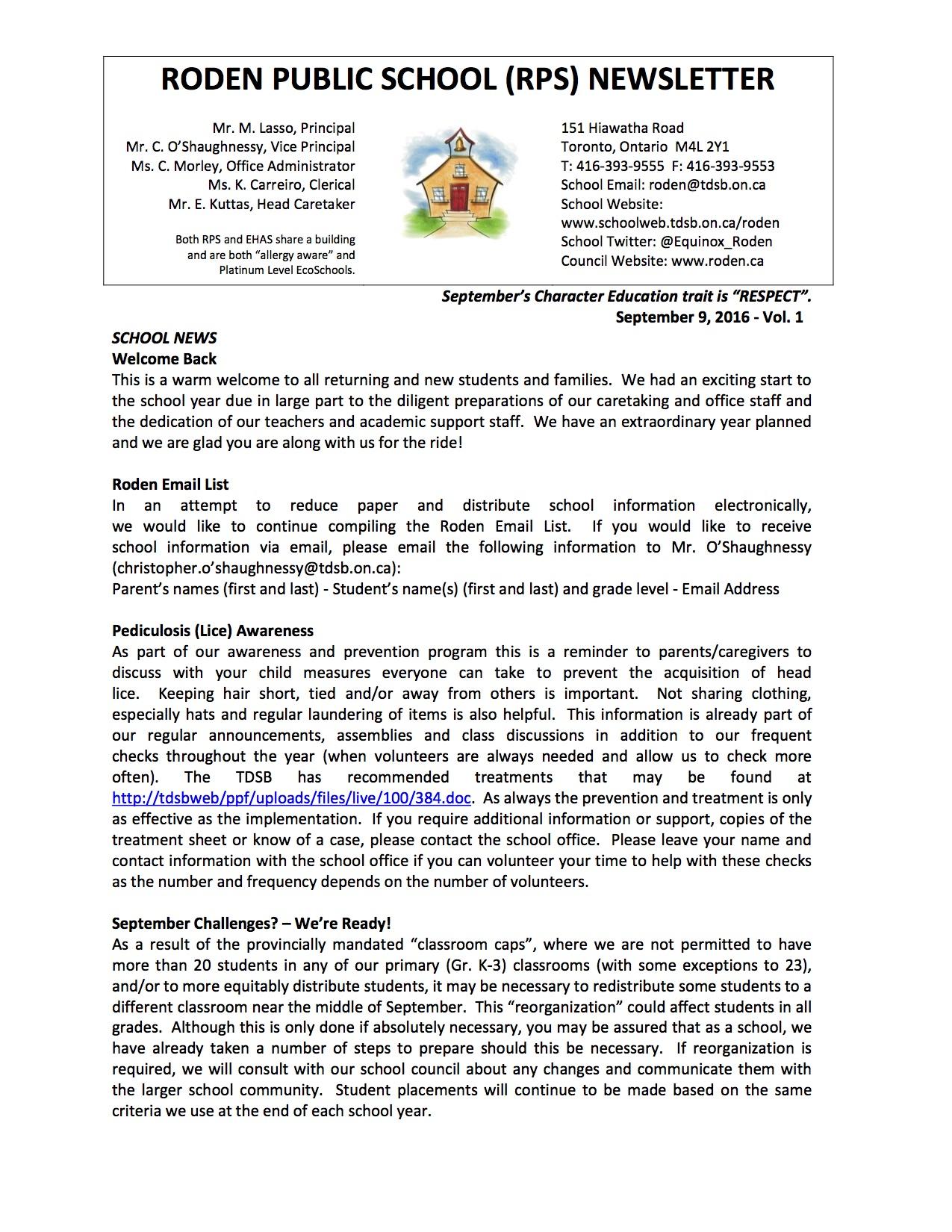 Roden Newsletter 16-09-08p1