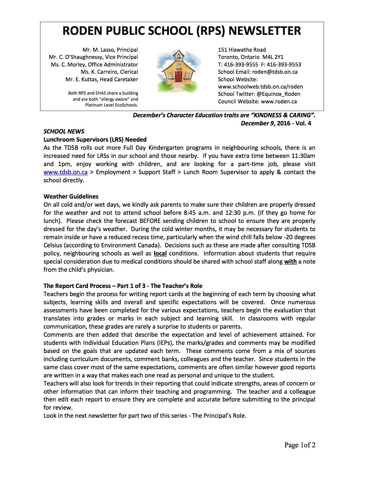 Roden Newsletter 16-12-09