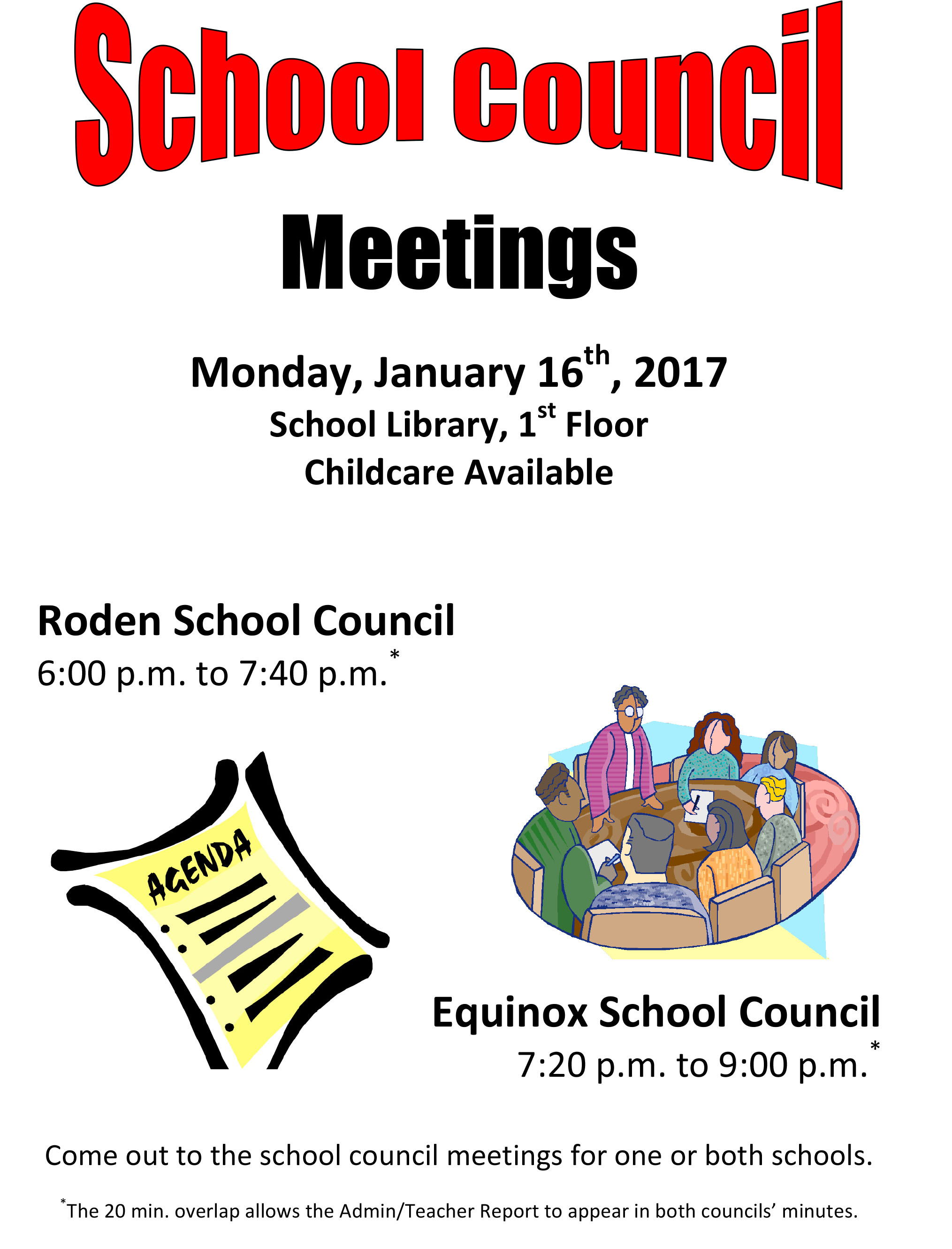 Microsoft Word - School Council Meeting Flyer Jan 16 2017 BOTH S