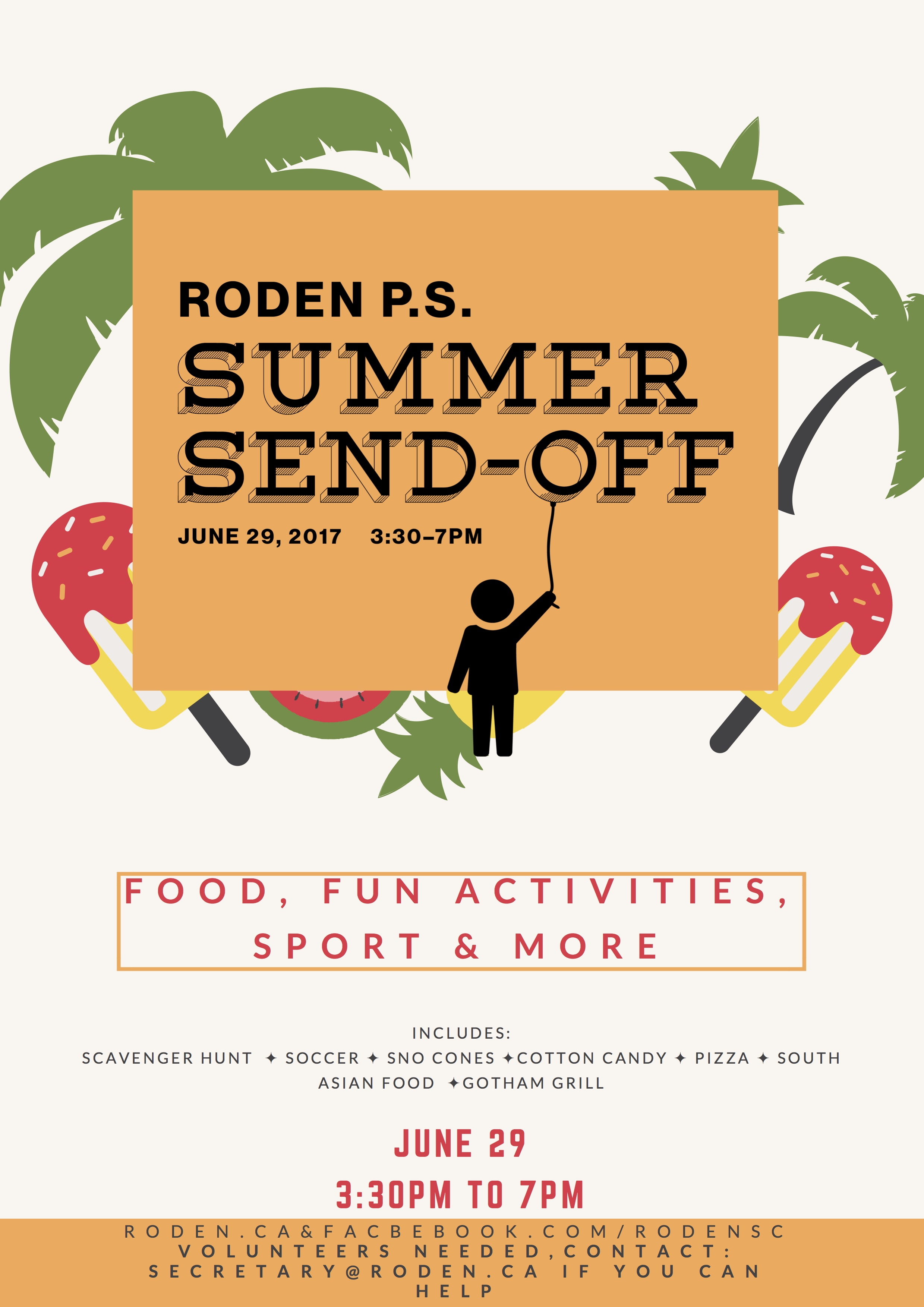 Summer Send off poster